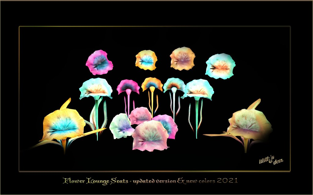 Flower Lounge Seats – updated & new colors 2021