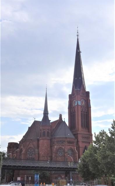 1891/94 Berlin neogotische evangelische Luther-Kirche 86mH von Johannes Otzen Dennewitzplatz in 10783 Schöneberg