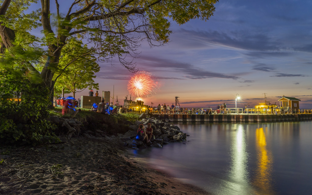 Fireworks by the Grand Traverse Bay