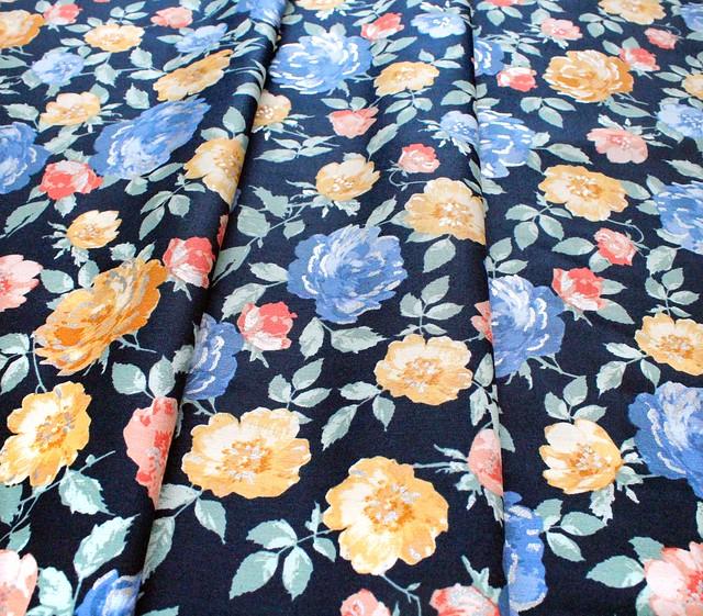 RJR Fabrics Summer Rose PS200-MI2M Lorraine Midnight Metallic