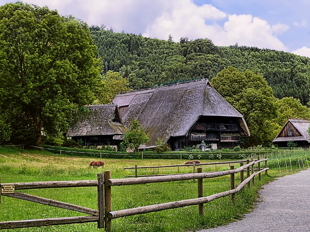 week end in the Black Forest- typical cottage