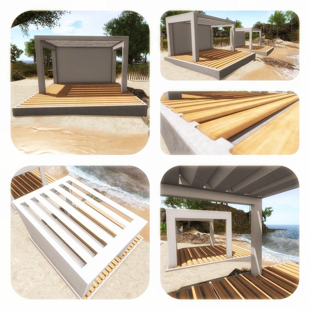 [satus Inc] Beach Resort Gazebo Poster