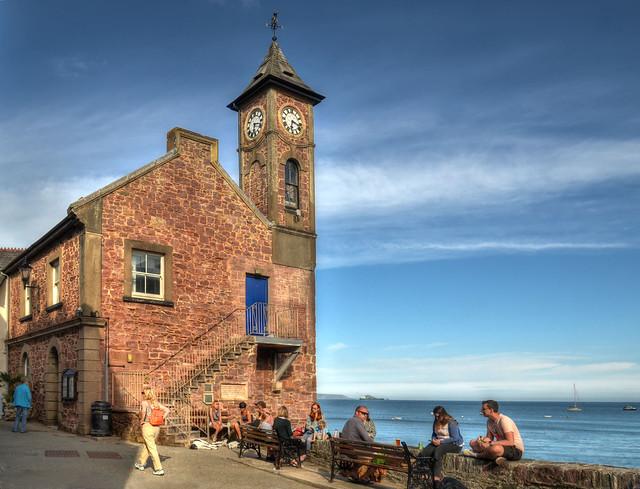 The clocktower at Kingsand, Cornwall