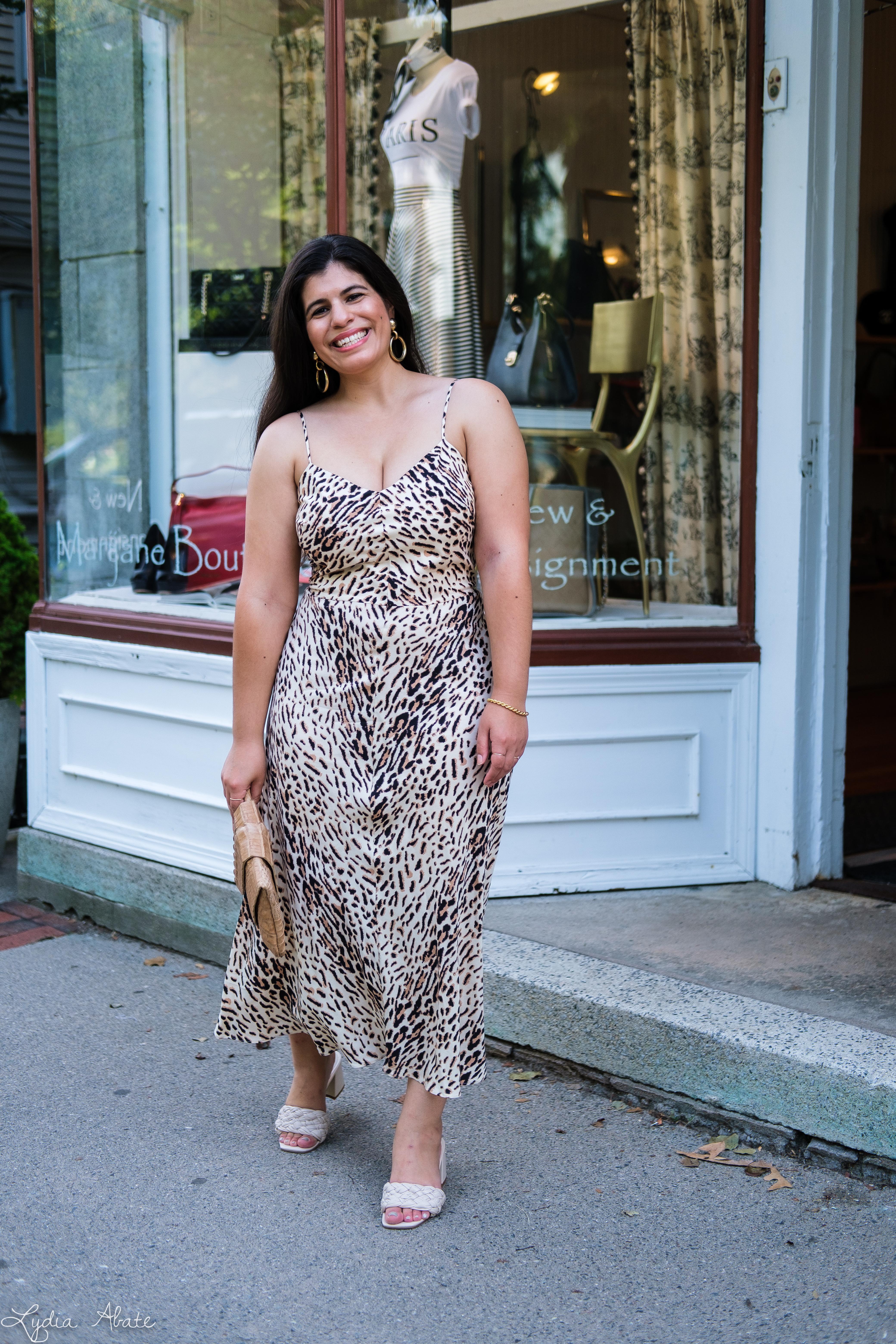 leopard print slip dress, woven slide sandals, Juliette Jake reptile wrap clutch-3.jpg