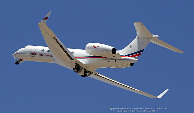 N595B LMML 05-07-2021 Private Gulfstream G-V CN 597