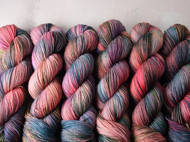 Favourite Sock – hand-dyed superwash merino wool yarn 4 ply/fingering 100g – 'Waterlilies'