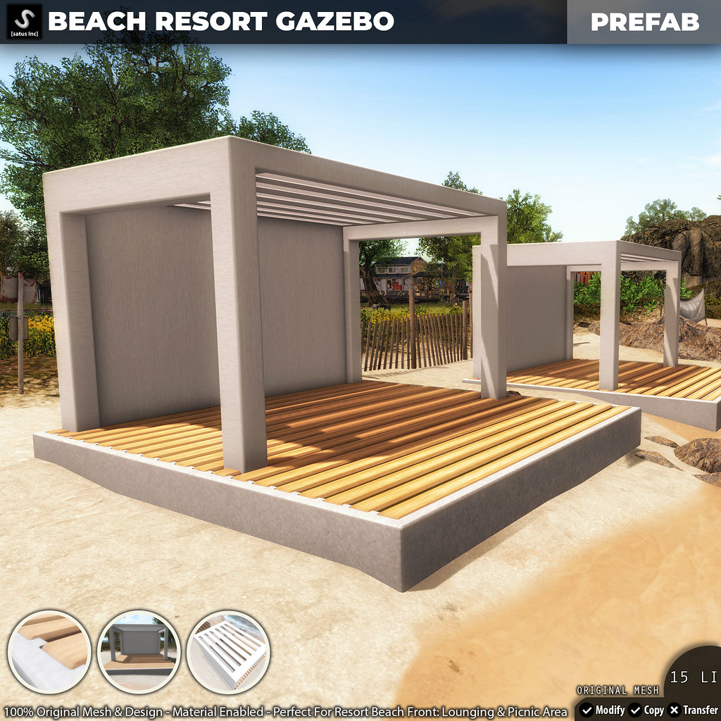 [satus Inc] Beach Resort Gazebo