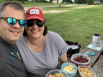 Carrie and I Doing a Picnic at El Dorado State Park
