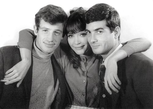 Jean-Paul Belmondo, Anna Karina and Jean-Claude Brialy in Une femme est une femme (1961)