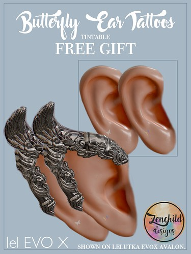 FREE Butterfly Ear Tattoos for EvoX @ mainstore (new LM)