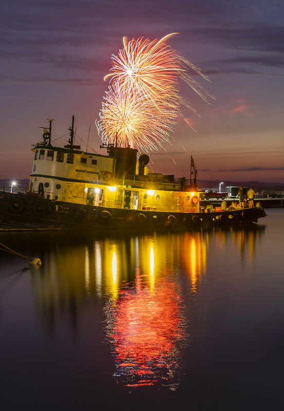 Tug Boat & Fireworks
