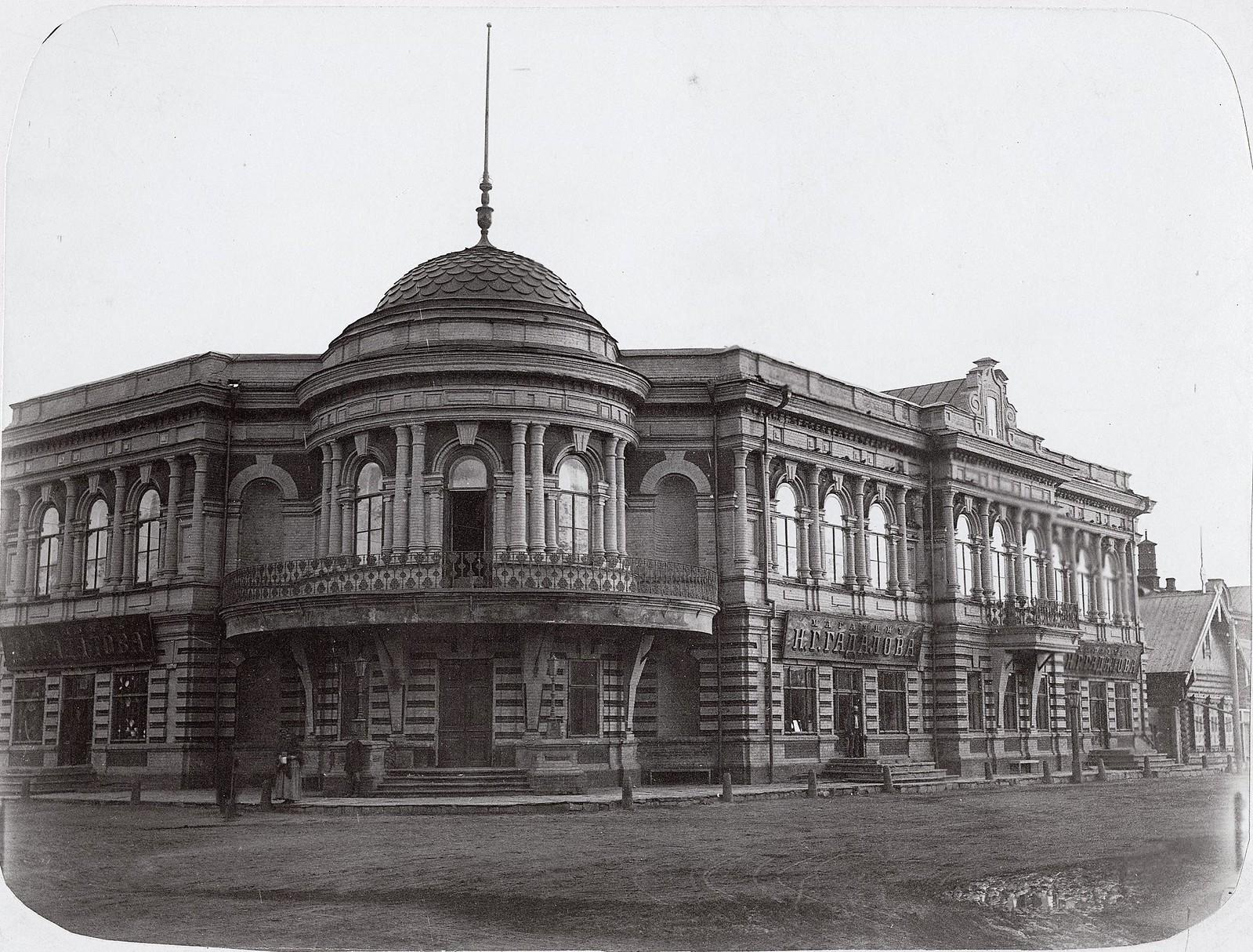 Торговый дом с жилыми помещениями купца I-ой гильдии Николая Герасимовича Гадалова. 1890