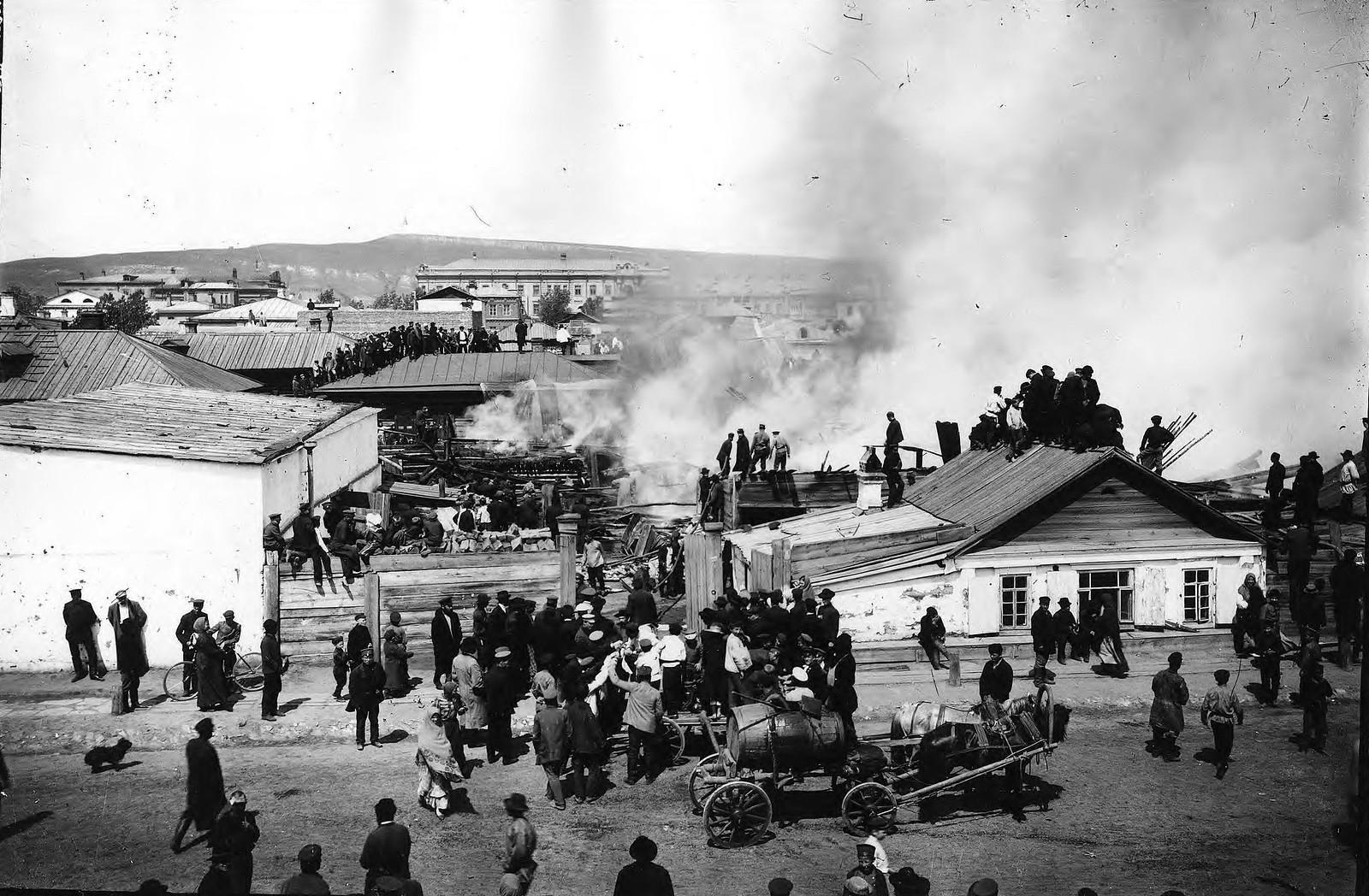 Пожар по улице Песочной. 1910