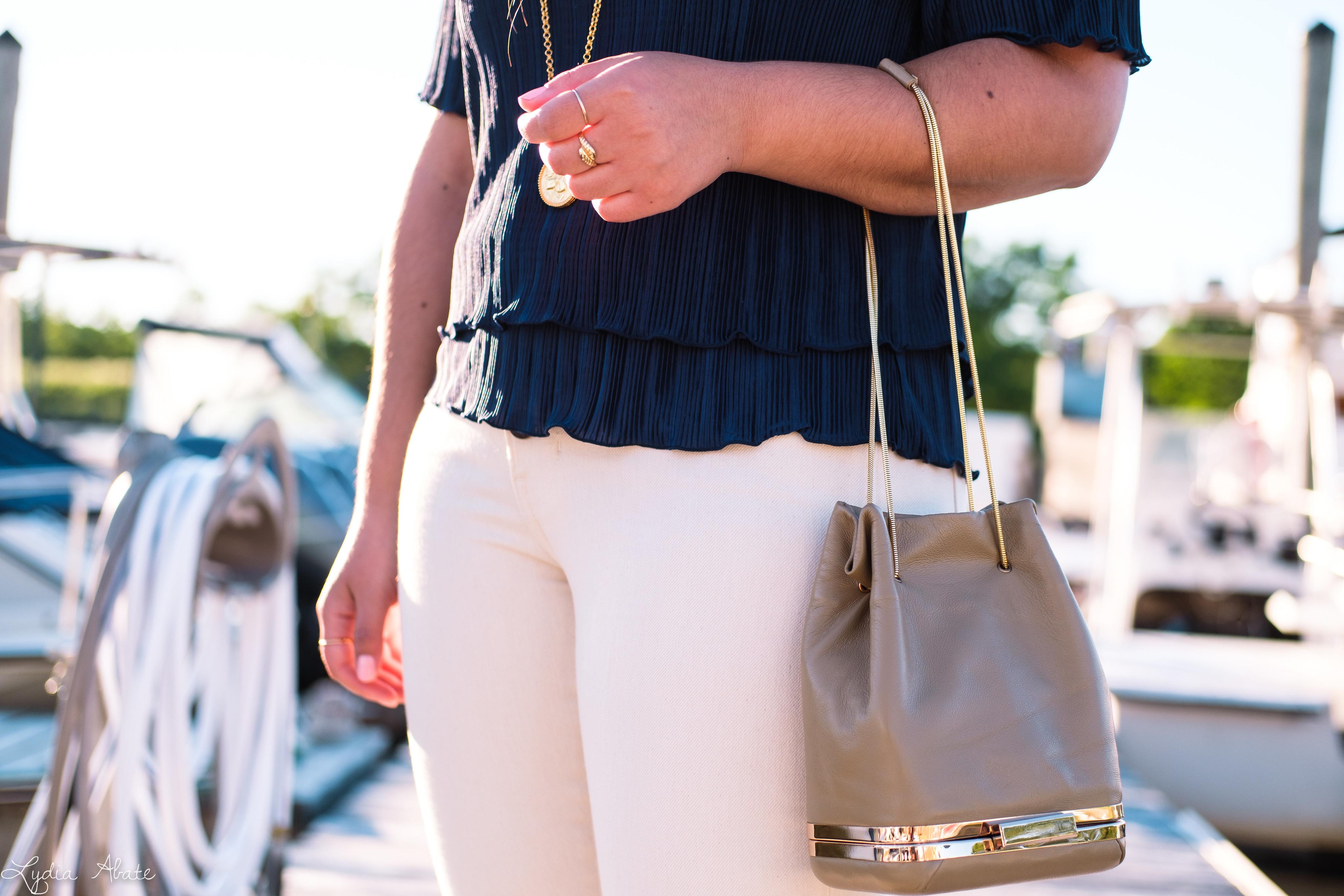 navy off the shoulder top, cream jeans, woven sandals-13.jpg