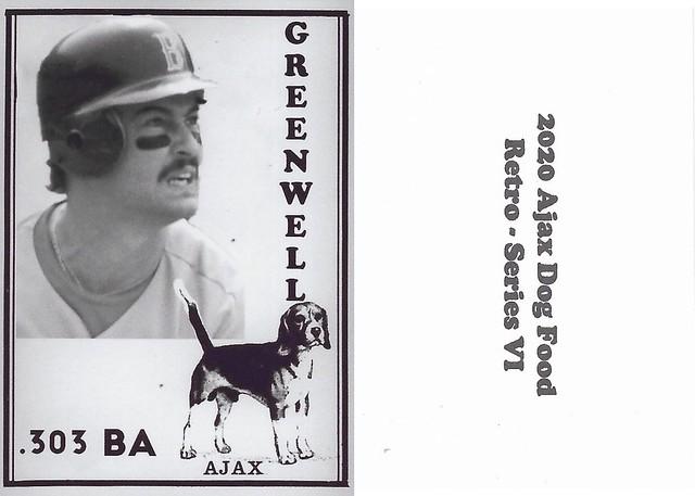 2020 Ajax Dog Food Retro Alt Back - Greenwell, Mike