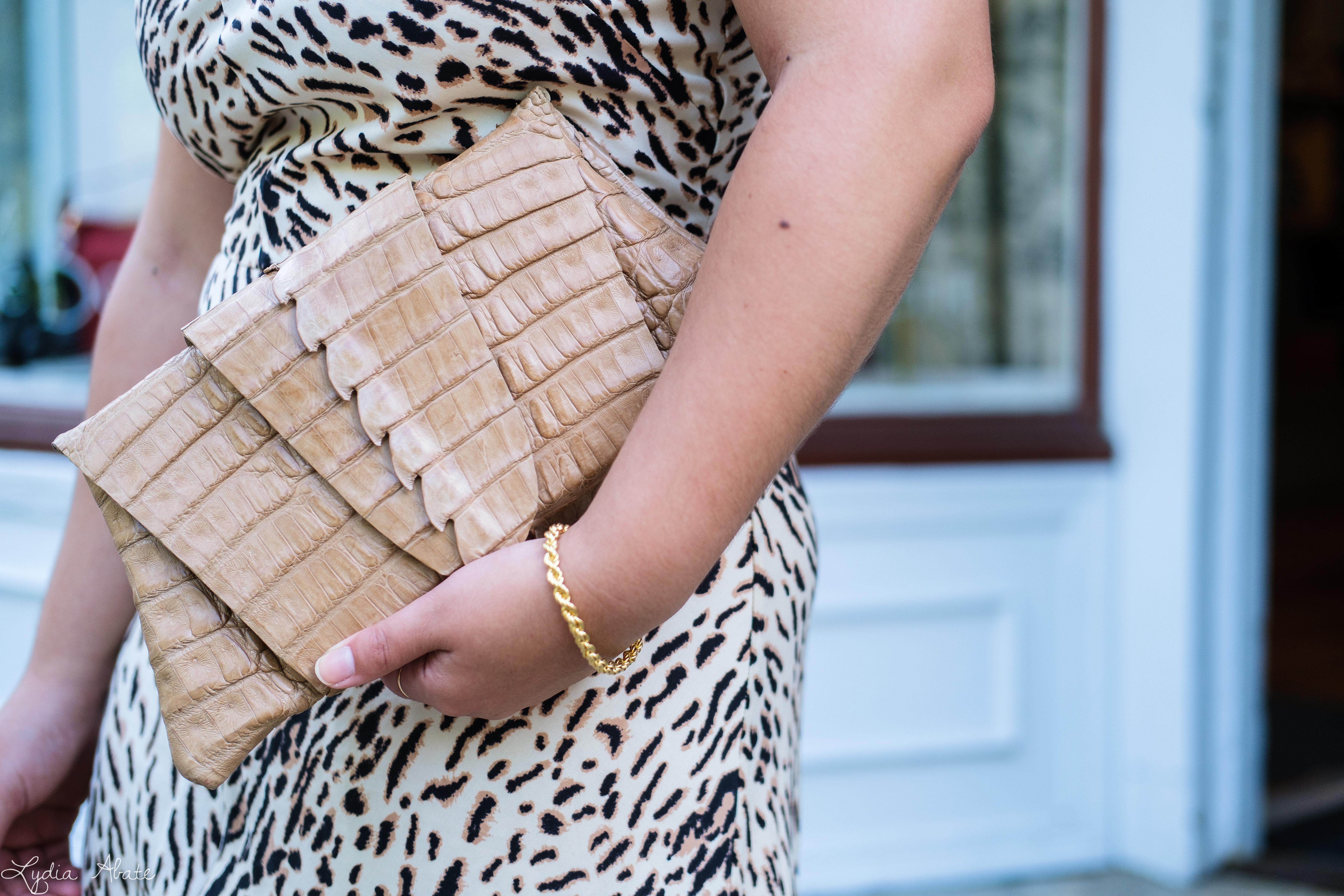 leopard print slip dress, woven slide sandals, Juliette Jake reptile wrap clutch-8.jpg