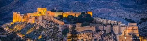 Panoramica del Conjunto monumental de la Alcazaba de Almería
