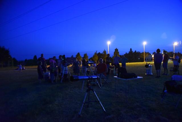 VCSE - Távcsöves bemutató Cserszegtomajon - Fotó: Szalontai Tibor