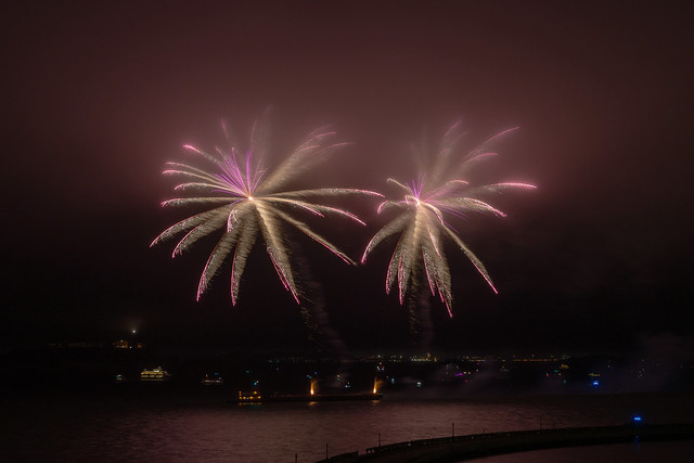 Foggy Fireworks - 1
