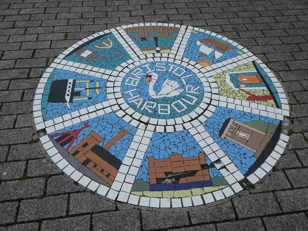 Floor mosaic, Bristol Harbourside