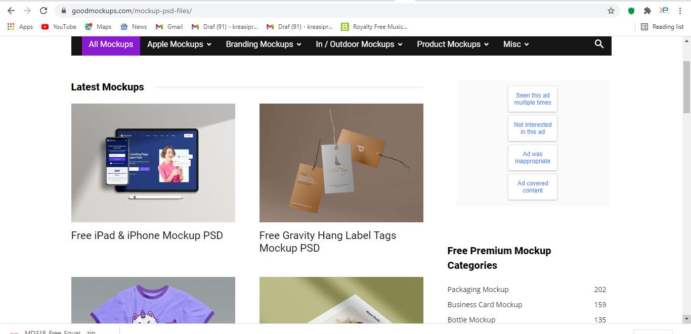 Goodmockups.com adalah salah satu website pencari mockup gratis