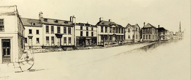 This is the longest street scene drawn by me in 1977! In Trowbridge Wiltshire. Ink pen drawing by jmsw.