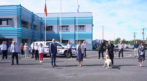 Minister Simon Coveney Visit to Civil Defence HQ Roscrea