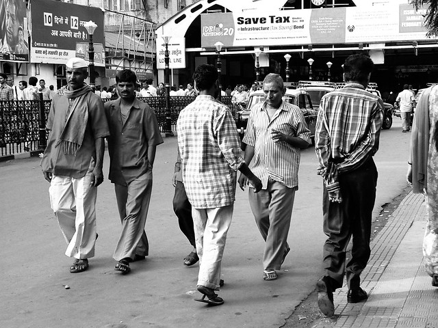Comings and goings at the central Mumbai station.