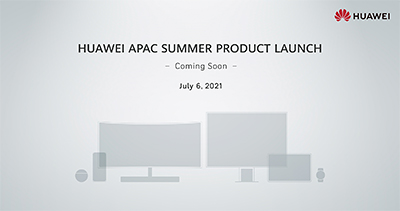 Attend the virtual Huawei APAC Summer Product Launch by clicking the above invitation on Tuesday, 6 July, 2021 at 7pm Singapore Time.