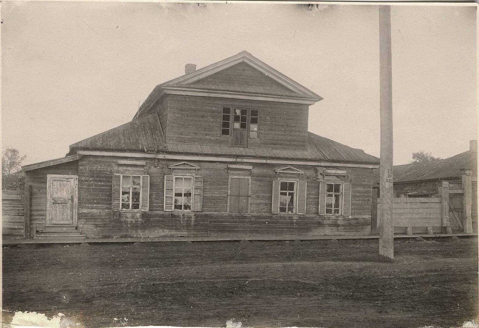 Дом купцов Мясниковых, в котором жил декабрист В.Л. Давыдов. 1916