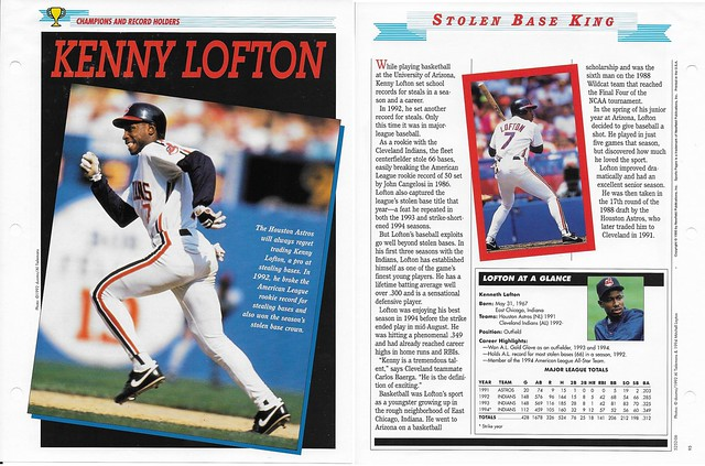 1995 Newfield Sports Pages - Champions and Record Holders - Lofton, Kenny