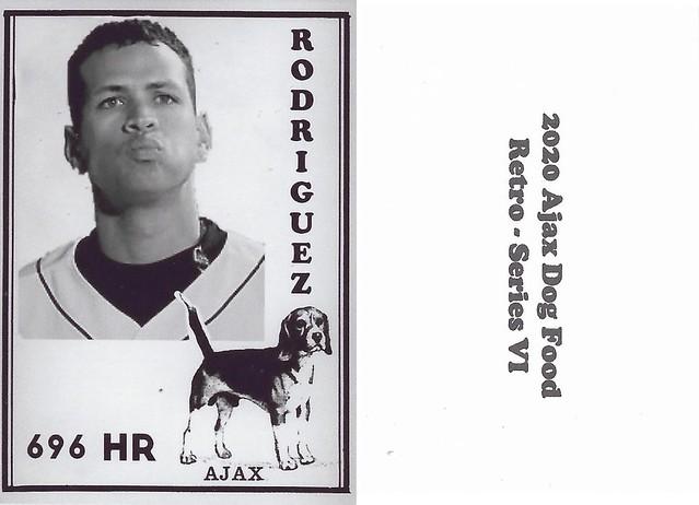 2020 Ajax Dog Food Retro Alt Back - Rodriguez, Alex