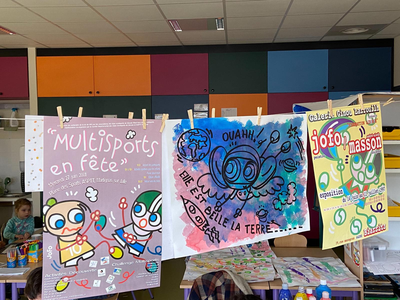 Fresque Jofo à la maternelle Gambetta