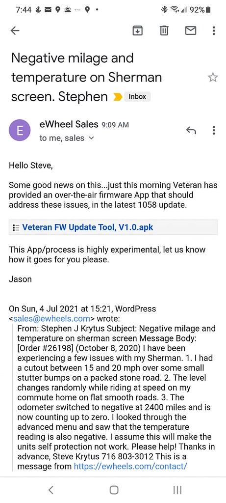 Veteran Sherman OTA update Tool