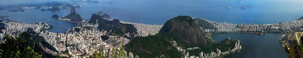 Rio de Janeiro, vista panorâmica da Corcovado-DSC_4491pann-p