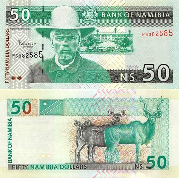 50 dolárov Namíbia 1999, P7a