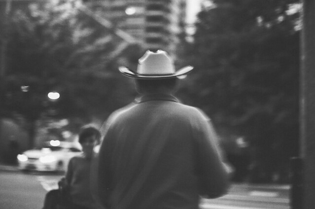 the man in the white hat