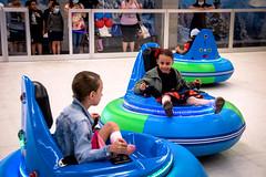 Ice bumper cars in a Mall