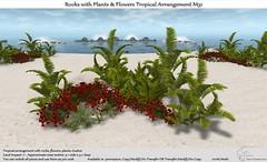 .:Tm:.Creation Tropical Flowers Rocks Arrangement M31