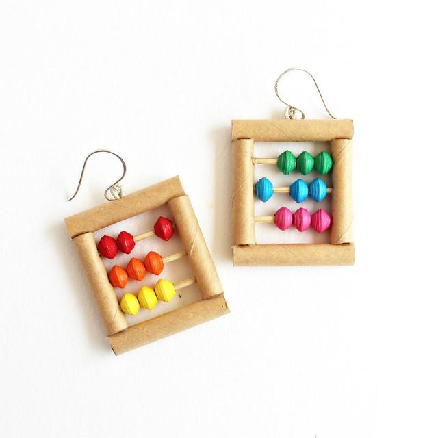 Abacus Paper Earrings