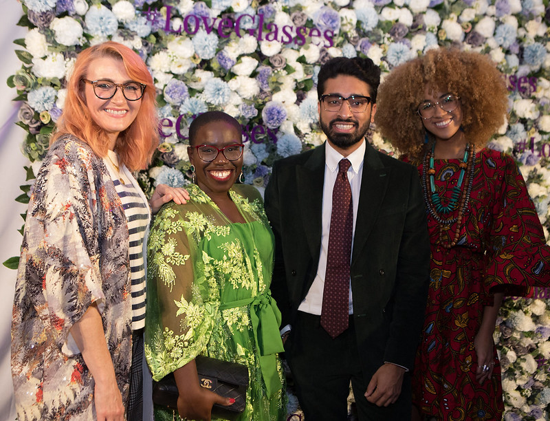 Why I Turned Down a 4-Figure Fee Over Diversity (or Lack of): Catherine Summers AKA Not Dressed As Lamb with three other influencers at the Specsavers SWOTY Awards