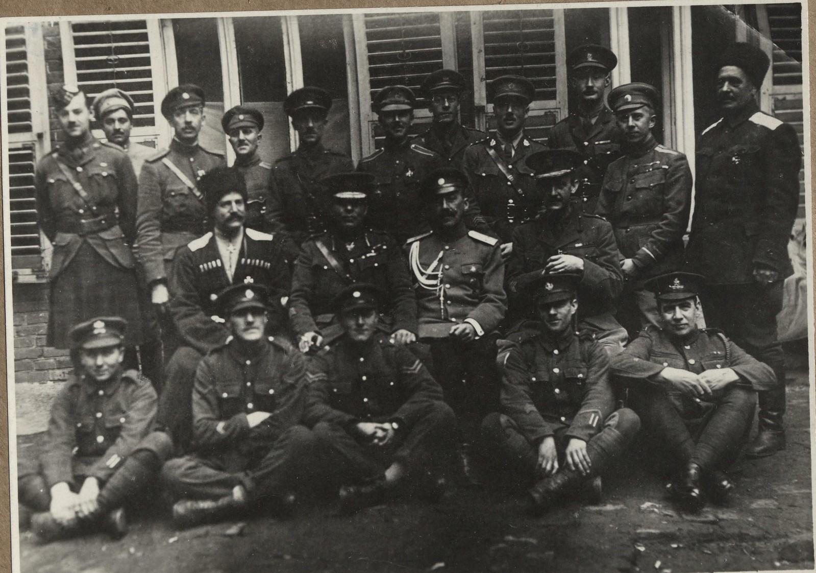 481. 1918. Генерал Пул и его штаб в Екатеринодаре