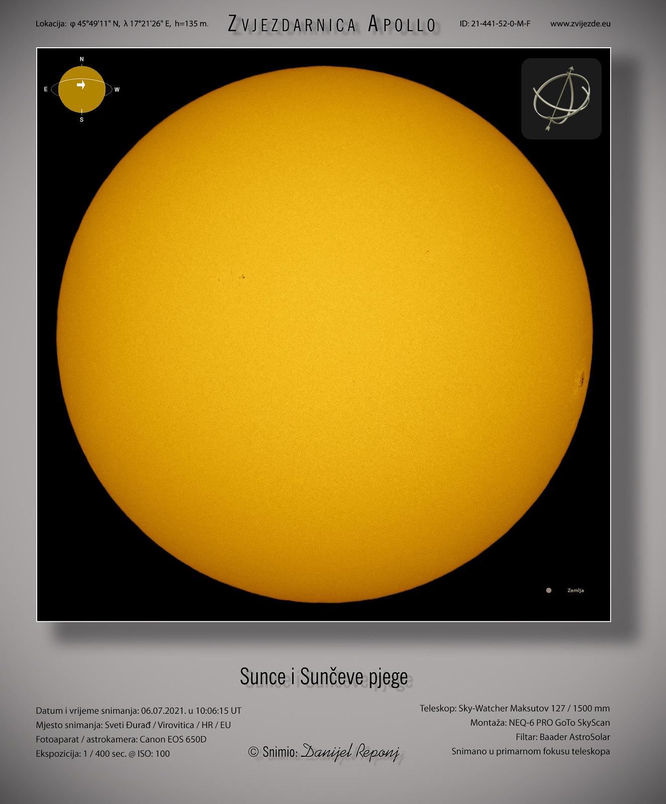 Sunce i pjege, 6.7.2021.