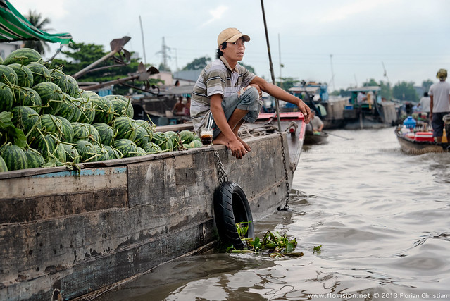 Coffee break, along the Mekong (continued), Vietnam.