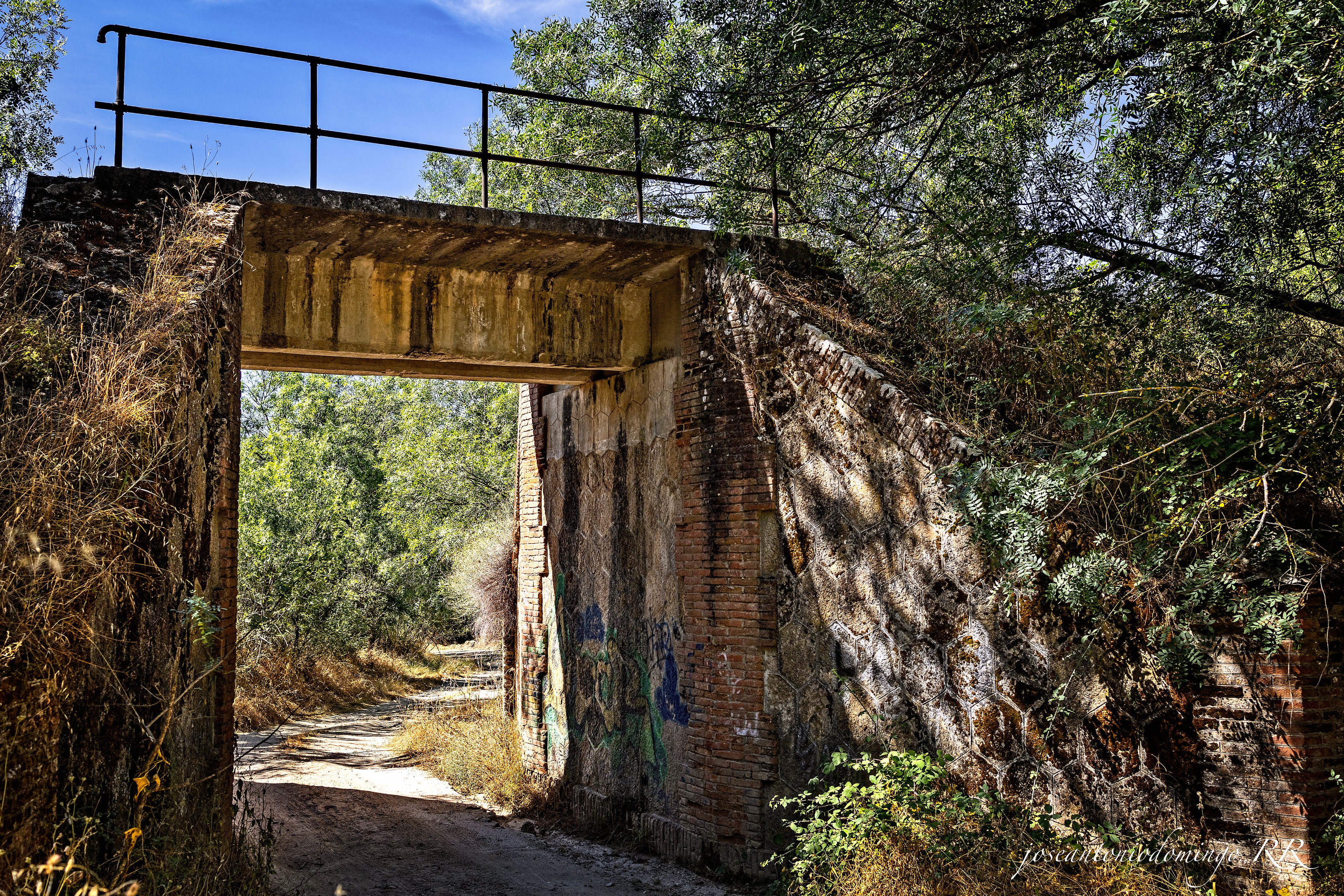 Puente sobre el trazado de las vías, en La Adrada