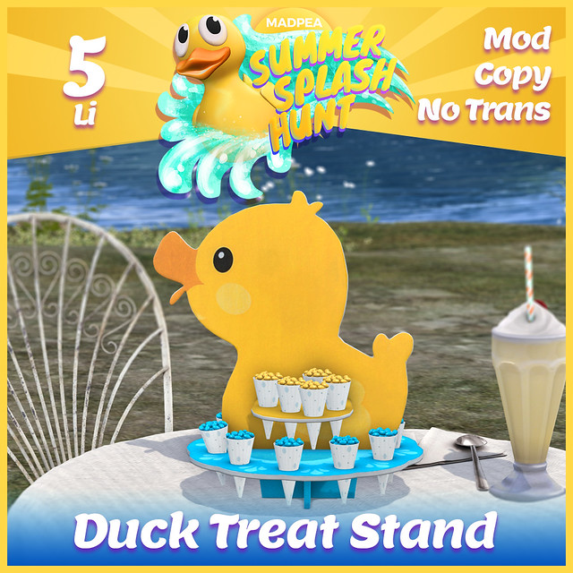 Summer Hunt Prize Reveal: Duck Treat Stand  Wow, you guys are some fire-quackers! You've unlocked prize number fourteen, so give yourself a treat with this Duck Treat Stand. That'll keep you quacking on the way to more prizes!