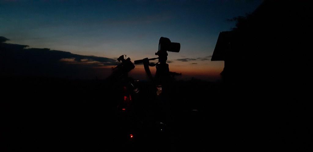 VCSE - 2021. júniusi észlelőhétvége - mire besötétedett felkészültünk - Fotó: Szalontai Tibor
