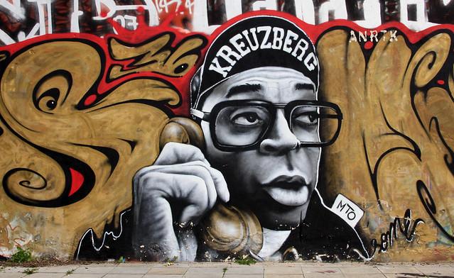 Streetart by MTO - Spike Lee in Kreuzberg, 2010