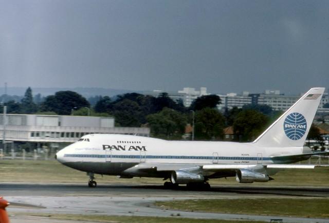 N540PA Pan Am Boeing 747SP-21 makes a spirited departure down runway 28R at London Heathrow
