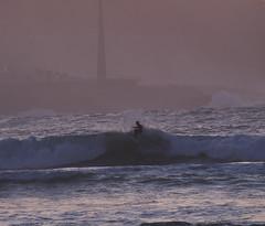Coruña by day - Take that Ride!! Los últimos minutos de la tarde con la luna casi llena y mareas vivas.